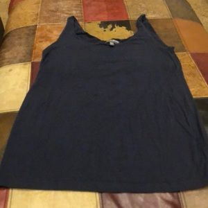 A pea in a pod navy tank with shelf bra large